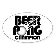 Beer Pong Oval Decal