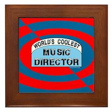 Cool Music Director Framed Tile