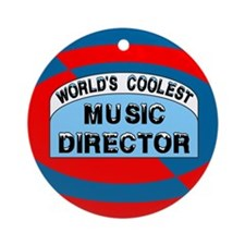 Cool Music Director Ornament (Round)