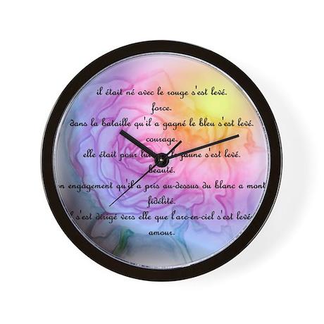 french rainbow rose Wall Clock