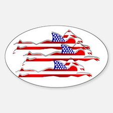USA Swimming Sticker (Oval)