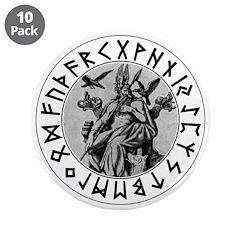"Odin Rune Shield 3.5"" Button (10 pack)"