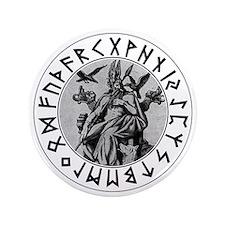 "Odin Rune Shield 3.5"" Button"