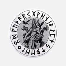 "Odin Rune Shield 3.5"" Button"