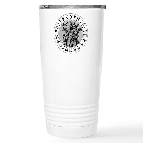 Odin Rune Shield Stainless Steel Travel Mug