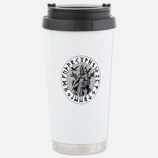 Odin Rune Shield Stainless Steel Travel Mug