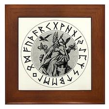 Odin Rune Shield Framed Tile