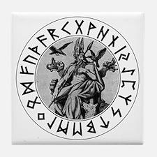 Odin Rune Shield Tile Coaster