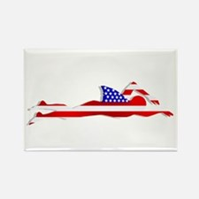 USA Swimmer Rectangle Magnet (100 pack)