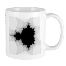grey/white Mandelbrot Mug