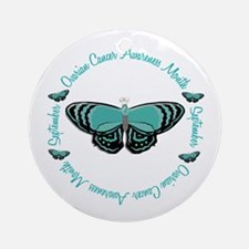 Ovarian Cancer Awareness Month 3.3 Ornament (Round