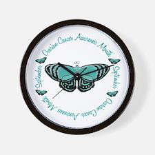 Ovarian Cancer Awareness Month 3.3 Wall Clock