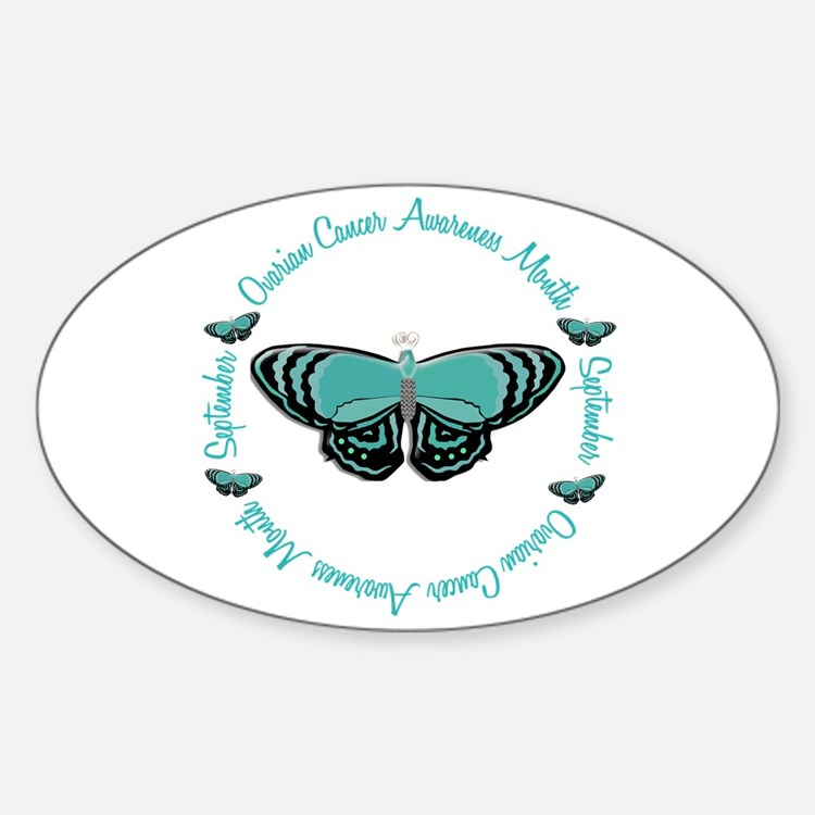 Ovarian Cancer Awareness Month 3.3 Oval Decal