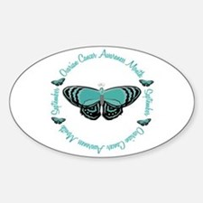 Ovarian Cancer Awareness Month 3.3 Oval Stickers