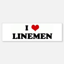 I Love LINEMEN Bumper Bumper Bumper Sticker