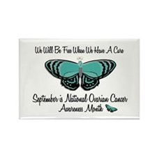 Ovarian Cancer Awareness Month 3.1 Rectangle Magne