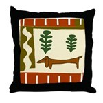 Weiner Dog Throw Pillow