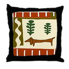 Weiner Dog Throw Pillow