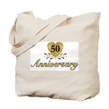50th Anniversary Golden Heart Tote Bag