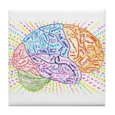 Unique Brains Tile Coaster