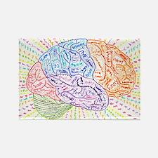 Unique Brain Rectangle Magnet (10 pack)