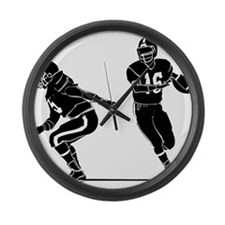 PLAYER_28 Large Wall Clock