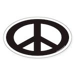Peace Sign Euro Oval Sticker