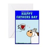 Fathers day cow Greeting Cards