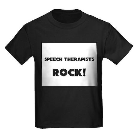 Speech Therapists ROCK Kids Dark T-Shirt
