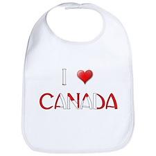 I LOVE CANADA Bib