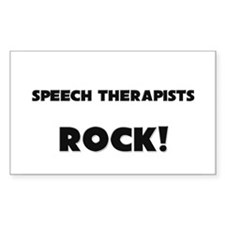 Speech Therapists ROCK Rectangle Decal