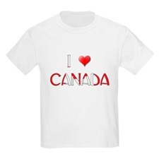 I LOVE CANADA Kids T-Shirt