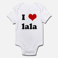 I Love lala Infant Bodysuit