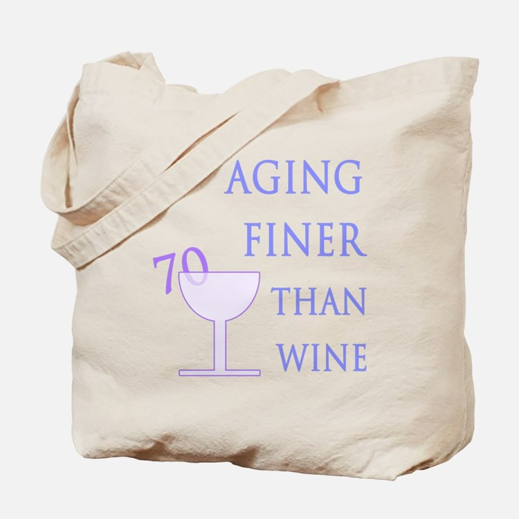 Witty 70th Birthday Tote Bag