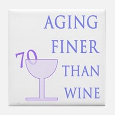 Witty 70th Birthday Tile Coaster
