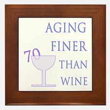 Witty 70th Birthday Framed Tile