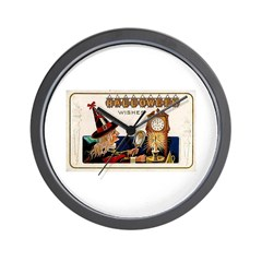 Halloween Witch & Clock Wall Clock
