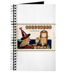 Halloween Witch & Clock Journal