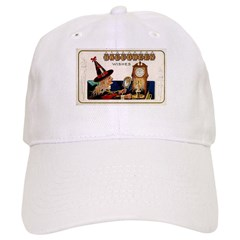 Halloween Witch & Clock Baseball Cap