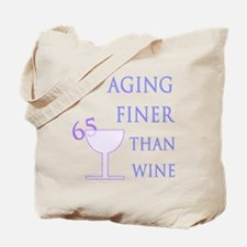 Witty 65th Birthday Tote Bag