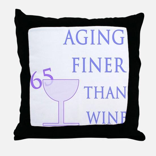 Witty 65th Birthday Throw Pillow