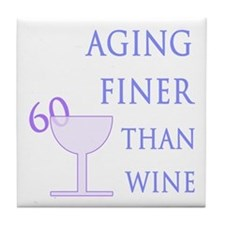 Witty 60th Birthday Tile Coaster