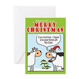 Cow christmas Greeting Cards