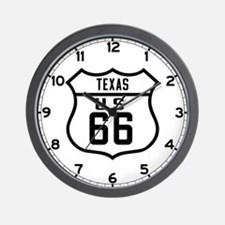 Route 66 Old Style - TX Wall Clock