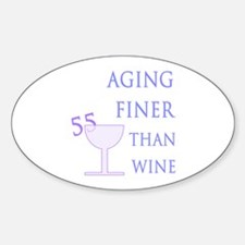 Witty 55th Birthday Oval Decal