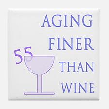 Witty 55th Birthday Tile Coaster