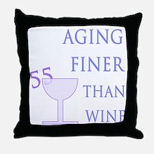 Witty 55th Birthday Throw Pillow
