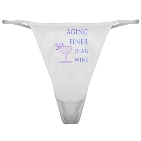 Witty 50th Birthday Classic Thong