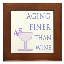 Witty 45th Birthday Framed Tile