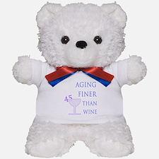 Witty 45th Birthday Teddy Bear